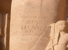 Etched at Abu Simbel in Aswan