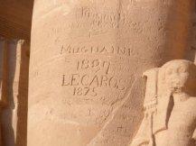 Etched at Abu Simbel in Aswan