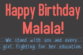 Happy Birthday Malala