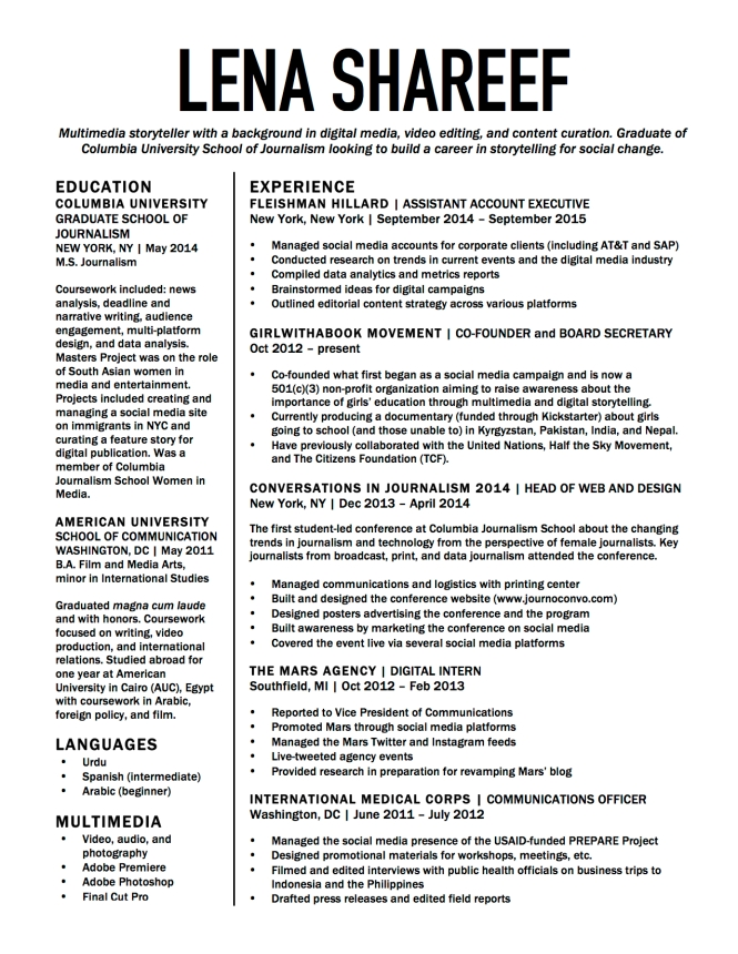 resume lena shareef