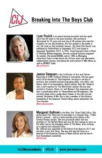 Panel 1 bios in conference program