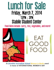 Poster for fundraising food/lunch sale for the conference